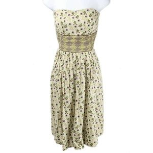 Anthropologie Tracy Reese Floral Strapless Dress